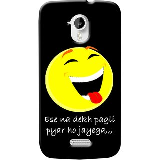Snooky Digital Print Hard Back Case Cover For Micromax Canvas Hd A116 82790