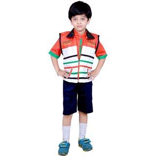 8bb8f8846 Buy Kids dresses baby clothing boys Shirt Shorts and Jacket combo ...