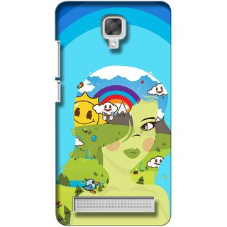 Snooky Digital Print Hard Back Case Cover For Micromax Bolt Q331 135659