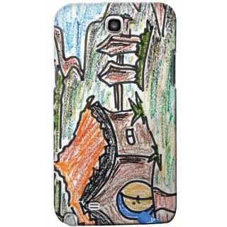 Snooky Digital Print Hard Back Case Cover For Samsung Galaxy Note 2 147138