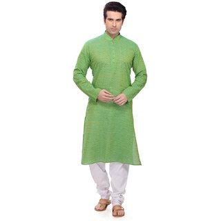 RG Designers Green Kurta pyjama Set
