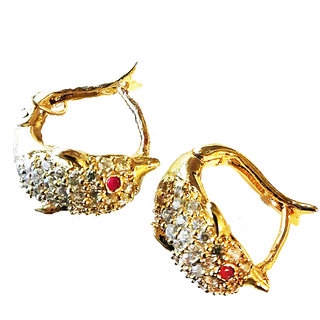 Jk Groups Designer Diamond Gold Las Ear Tops