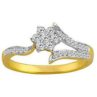 Natural IGL Certified Diamond Ring With 14K Yellow Gold