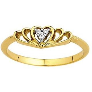 Heart Shaped Design Pure Gold Ring