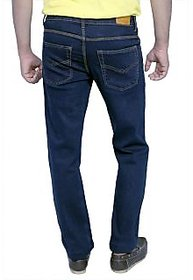 Routeen Men Regular Fit Blue Jeans