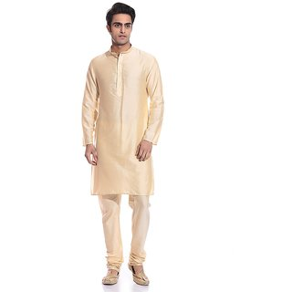 Arose Fashion Gold Silk Kurta Pajama Set