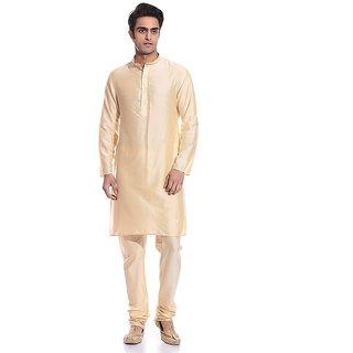 Arose Fashion Gold Silk Kurta Pajama Set
