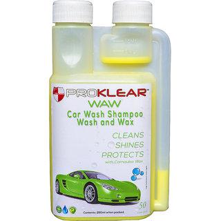 PROKLEAR Car Shampoo WAW Wash And Wax with Carnauba Wax