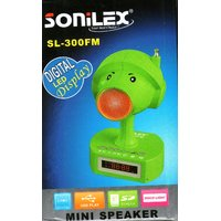 Sonilex MP3 With Built-in Speaker Usb,sd Card,FM Radio,Aux And Digital Display