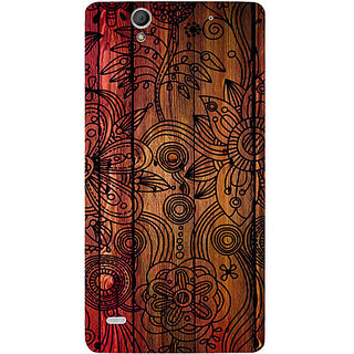 Casotec Dark Wooden Background Design Hard Back Case Cover For Sony Xperia C4