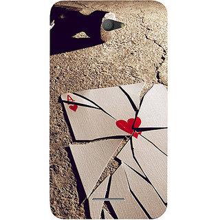 Casotec Broken A Card Design Hard Back Case Cover For Sony Xperia E4