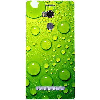 Casotec Green Bubbles Design Hard Back Case Cover For Gionee Elife E8