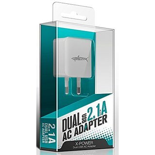 Ghandhis Dual USB Travel + Wall Charger (X-POWER)