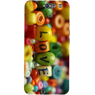 Casotec Colorful Love Design Hard Back Case Cover For Infocus M812