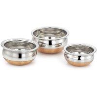 Mahavir 3Pc Copper Bottom Baby Handi Cookware Set