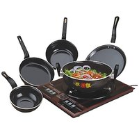 Dch Set Of 5 Pc Hard Coat Induction Safe Cookware