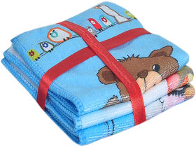 Jars Collections Set Of 3 Teddy Design Face Towel