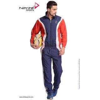 Nitrite Sportswear Navy-Red Tracksuit For Men
