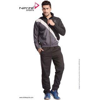 Nitrite Sportswear Black Dk. Grey Tracksuit For Men