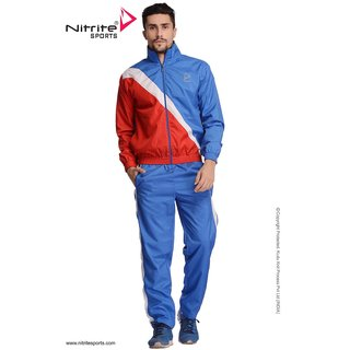 Nitrite Sportswear Blue Red Tracksuit For Men