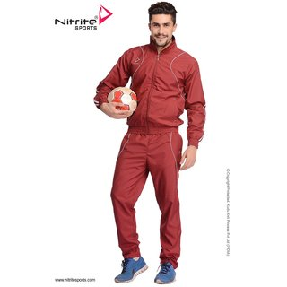 Nitrite Sportswear Maroon-White Tracksuit For Men