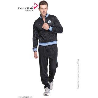 Nitrite Sportswear Black-Sky Blue  Tracksuit For Men