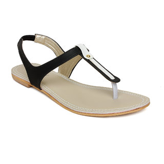 Vendoz Women's Black Flats