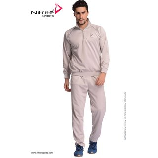 Nitrite Sportswear Silver Grey  Tracksuit For Men