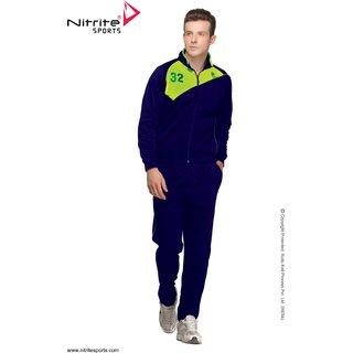 Nitrite Sportswear Navy-F. Green  Tracksuit For Men