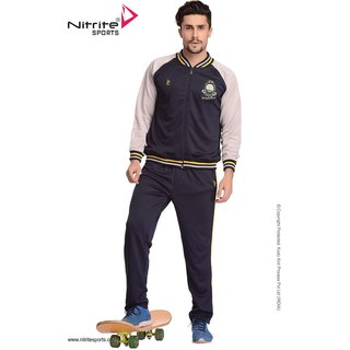 Nitrite Sportswear Navy-Silver Grey  Tracksuit For Men