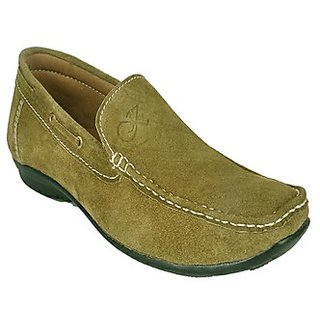 Kewl Instyle Stylish Men's Green Loafer's