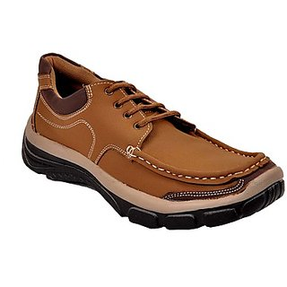 Kewl Instyle Men's Stylish Brown Casual Shoes - Option 1