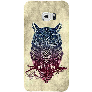 Casotec Owl Pattern Design Hard Back Case Cover For Samsung Galaxy S6 gz8010-12172