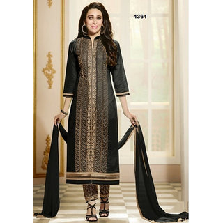 Grapsy Fashion + Embroidery + Cotton + Semi-stitch + salwar With duatta