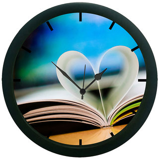 AE World Abstract Heart Wall Clock (With Glass)