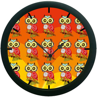 AE World Multi Owl Wall Clock (With Glass)