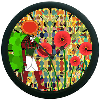 AE World Egyptian Floral 3D Wall Clock (With Glass)