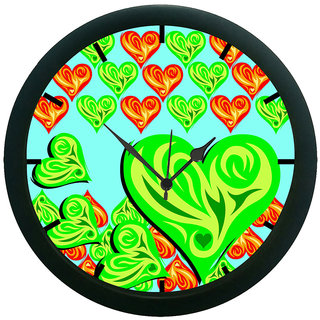AE World Ethnic Hearts 3D Wall Clock (With Glass)