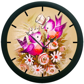 AE World Nature Bird Wall Clock (With Glass)