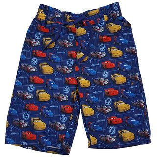 Snoby Boys shorts pixar print on blue.elastic waist(SBY1189)
