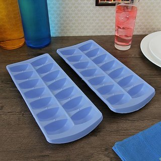 Gruvi Ice Cube Tray - Glacier (Set of 2) (Blue Colour)