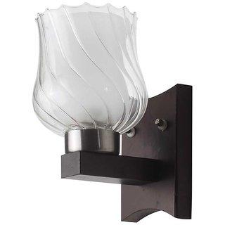 LeArc Designer Lighting Contemporary Glass Metal Wood Wall Light WL1919