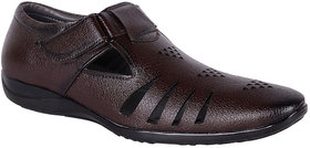 Shoeadda Men's Brown Velcro Sandals