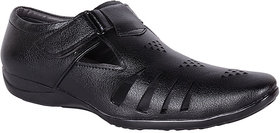 Shoeadda Mens Black Velcro Sandals