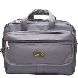 Truebags Black Synthetic Leather Office /Laptop/Executive Bag