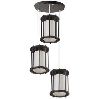 LeArc Designer Lighting Wood Glass Pendent HL3850-3