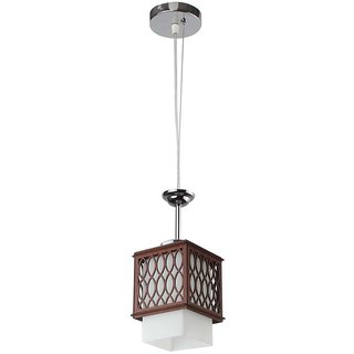 LeArc Designer Lighting Wood Glass Pendent HL3840-1