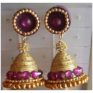 Quilling Jhumkas In Multi Color