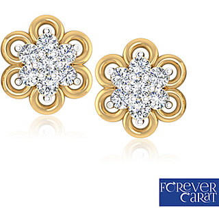 0.26ct Natural Diamond Earring Set 14k Hallmark Gold Diamond Stud ER-0048
