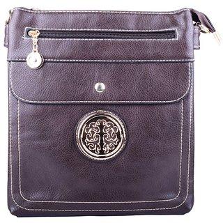 Bag Cottage Industies The Fancy Womens Sling Bag Dark Brown Artificial Leather (8308- dark brown)